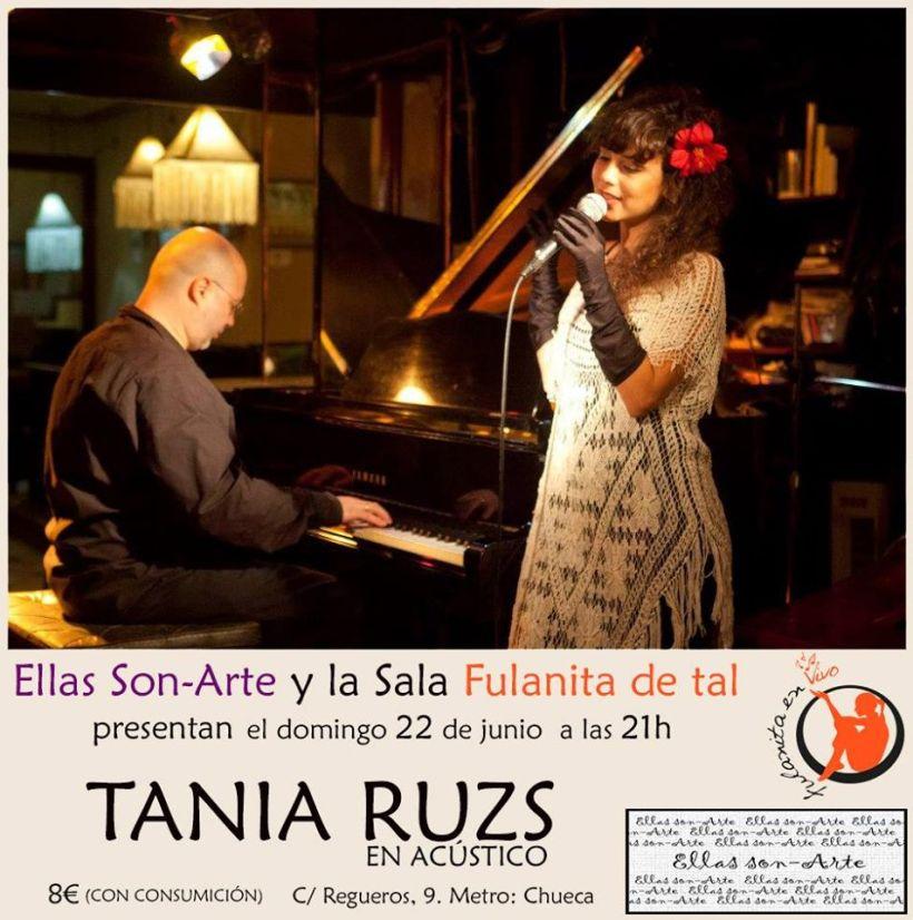 Tania Ruzs y Arturo Ballesteros este Domingo 22, en la sala Fulanita de tal